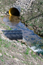 Waste water pipe polluting environment Stock Photography