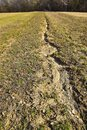 Wasted soil erosion Royalty Free Stock Photo