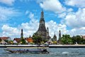 Wat arun in bangkok or temple of the dawn on the river side Stock Image