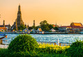 Wat arun bangkok thailand at sunset Royalty Free Stock Image