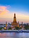 Wat arun landmark and no tourist attractions in thailand or temple of the dawn is a buddhist temple the bangkok on the thonburi Royalty Free Stock Images