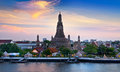 Wat arun landmark and no tourist attractions in thailand or temple of the dawn is a buddhist temple the bangkok on the thonburi Royalty Free Stock Photo
