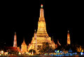 Wat Arun at night. Stock Images