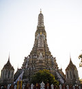 Wat arun ratchawararam ratchawaramahawihan or or temple of the dawn is a buddhist temple in bangkok yai district of Royalty Free Stock Photography