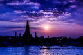 Wat arun in the sunset ratchawararam ratchawaramahawihan or with sky bangkok of thailand Stock Photo