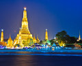 Wat arun in the sunset ratchawararam ratchawaramahawihan or with sky bangkok of thailand Royalty Free Stock Photography