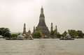 Wat arun temple bangkok thailand october the historic buddhist dominating the rover chao phraya in central Royalty Free Stock Photo