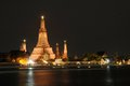 Wat arun temple in bangkok thailand the after sunset Royalty Free Stock Photography