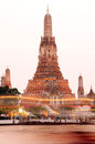 Wat arun temple in bangkok thailand the after sunset Stock Photo