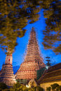 Wat arun or temple of dawn in bangkok while renovate a thailand and repairs Royalty Free Stock Photos