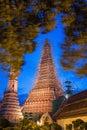 Wat arun or temple of dawn in bangkok  while renovate a Royalty Free Stock Photo