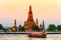Wat arun the temple of dawn bangkok thailandia Stock Photo