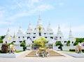 Wat asokaram samut prakan thailand temple of Royalty Free Stock Images