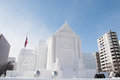 Wat Benchamabophit (The Marble Temple), Sapporo Snow Festival 2013 Royalty Free Stock Photo