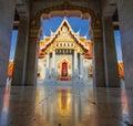 Wat Benjamabopit marble temple Royalty Free Stock Photo