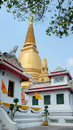 Wat bowonniwet vihara bangkok panorama shot of chedi thailand Stock Photos