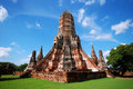 Wat chai wattanaram ayutthaya thailand buddhist temple situated in the old capital of built in in the khmer style it was burned by Stock Photo