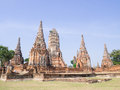 Wat chai wattanaram the ruined historic temple in ayutthaya thailand Royalty Free Stock Photos