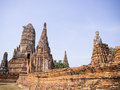 Wat chai wattanaram the ruined historic temple in ayutthaya thailand Stock Image