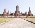 Wat chai wattanaram the ruined historic temple in ayutthaya thailand Royalty Free Stock Image