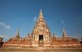 Wat chai watthanaram acient ruin in ayutthaya thailand Stock Photography