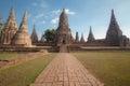 Wat chai watthanaram acient ruin in ayutthaya thailand Royalty Free Stock Image