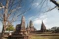 Wat chai watthanaram acient ruin in ayutthaya thailand Stock Images