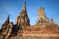 Wat chaiwatthanaram thailand old temple Royalty Free Stock Photography