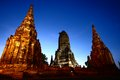 Wat chaiwatthanaram thailand old temple Stock Photo