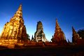 Wat chaiwatthanaram thailand old temple Royalty Free Stock Images