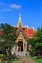 Wat chalong temple at sunny day phuket thailand is the most important of Royalty Free Stock Photography
