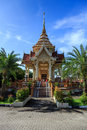 Wat chalong temple at sunny day phuket thailand is the most important of Stock Image