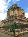 Wat Chedi Luang in Chiang Mai Thailand Royalty Free Stock Photo