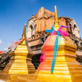 Wat chedi luang destination in chiang mai northern of thailand Royalty Free Stock Photography