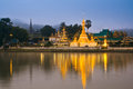 Wat jong klang in the dawn maehongson province of thailand Royalty Free Stock Photos
