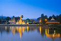 Wat jong klang in the dawn maehongson province of thailand Royalty Free Stock Image