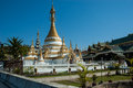 Wat Jong Klang temple, Mae Hong Son Stock Photos