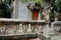 Wat kesararam pagoda of the cornflower petals in siem reap cambodia Stock Images