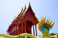 Wat khao kun gradai ubosot of temple in thailand Stock Photo