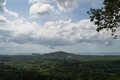 Wat Khao Tam Viewpoint with Lush Tropical Rain Forest and Ocean Royalty Free Stock Photo