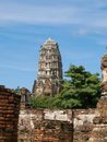 Wat mahathat ancient temple in ayuthaya Stock Photo