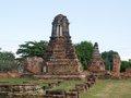 Wat mahathat ancient temple in ayuthaya Stock Photography