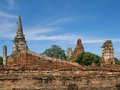 Wat mahathat ancient temple in ayuthaya Royalty Free Stock Photo