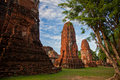 Wat Mahathat of Ayutthaya3 Stock Images