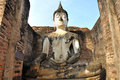 Wat mahathat sukhothai historical park which covers ruins old city sukhothai thailand park was declared unesco world heritage site Royalty Free Stock Photo
