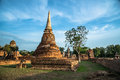 Wat mahathat temple of the great relics is located almost right in center ayutthaya apart from being symbolic center Stock Image