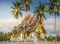 Wat Mai temple and monastery luang prabang Laos Royalty Free Stock Photo