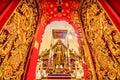 Wat Ming Muang temple lanna style , Chiang Rai ,Thailand.