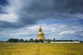 Wat muang with gilden giant big buddha statue in thailand Stock Photos