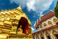 Wat phan ohn temple in chiang mai thailand the golden pagoda at Royalty Free Stock Photos